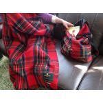 Royal Stewart Tartan Wool Blanket