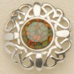 Heather Gems - Celtic Brooch