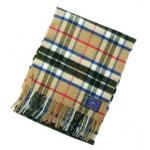 100% Lambswool Thompson Camel Scarf