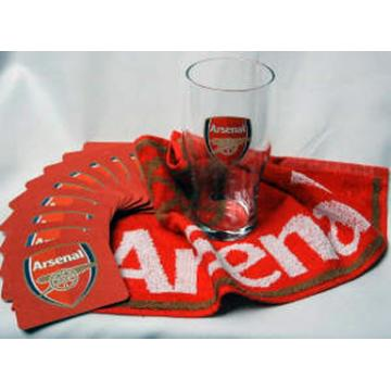 Mini Bar Sets - Arsenal - Pint Glass, Bar Towel and 10 beer mats