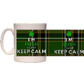 Im Irish I can\'t keep calm mug